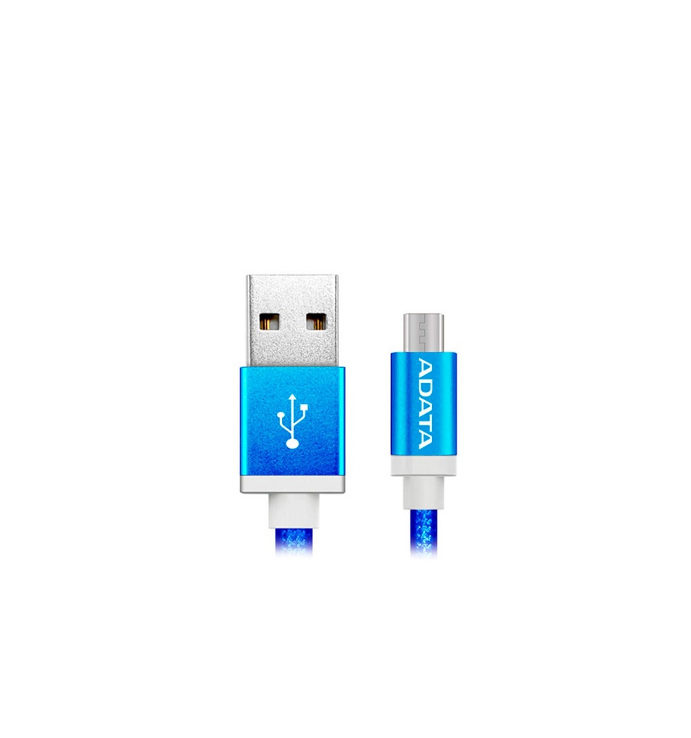 Cable ADATA Micro USB Android Sincronizacion y Carga - SmartPhone/Tablets - BLUE