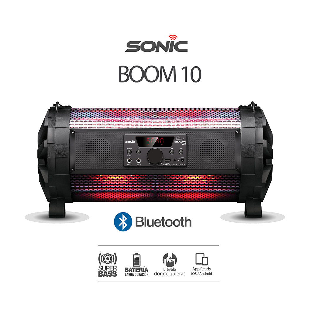Parlante Boom 10 SONIC 10.000 Watts Led Wash