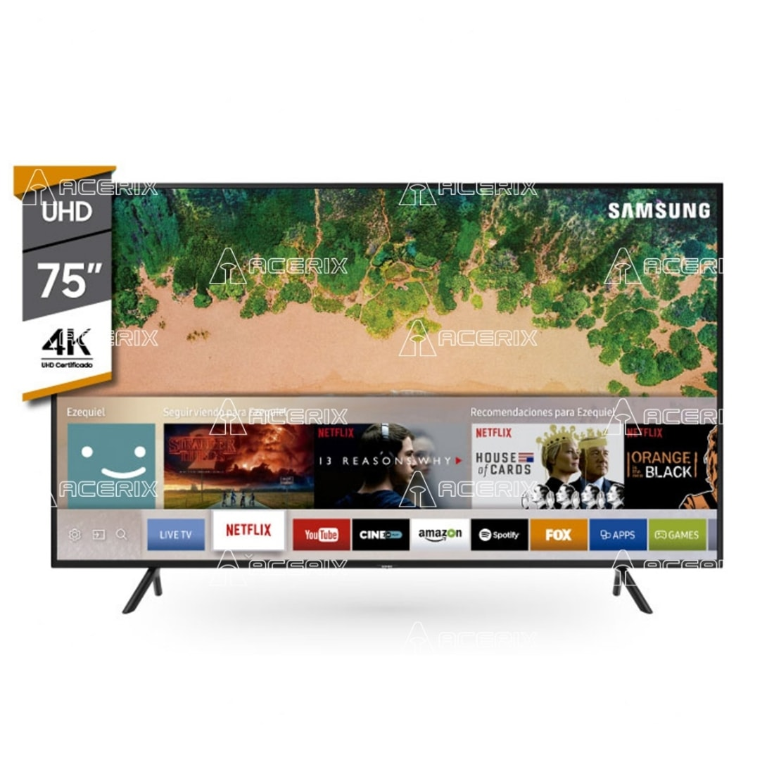 Smart TV UN75NU7100 4K HDR SAMSUNG 75""