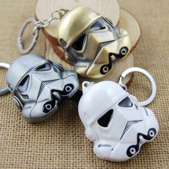 Llavero Storm Trooper Star Wars blanco