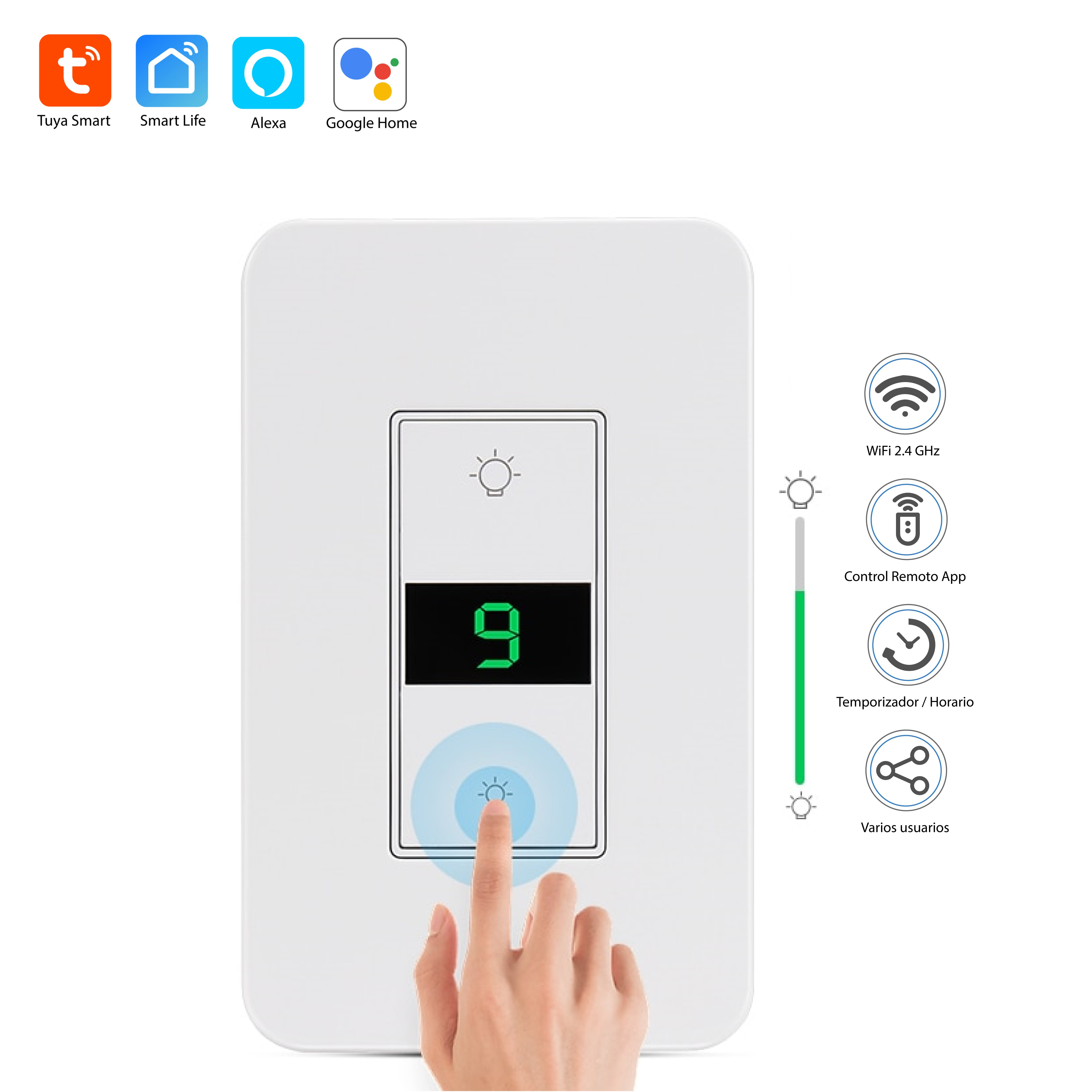 Interruptor DIMMER WiFi Tuya Smart / Smart Life