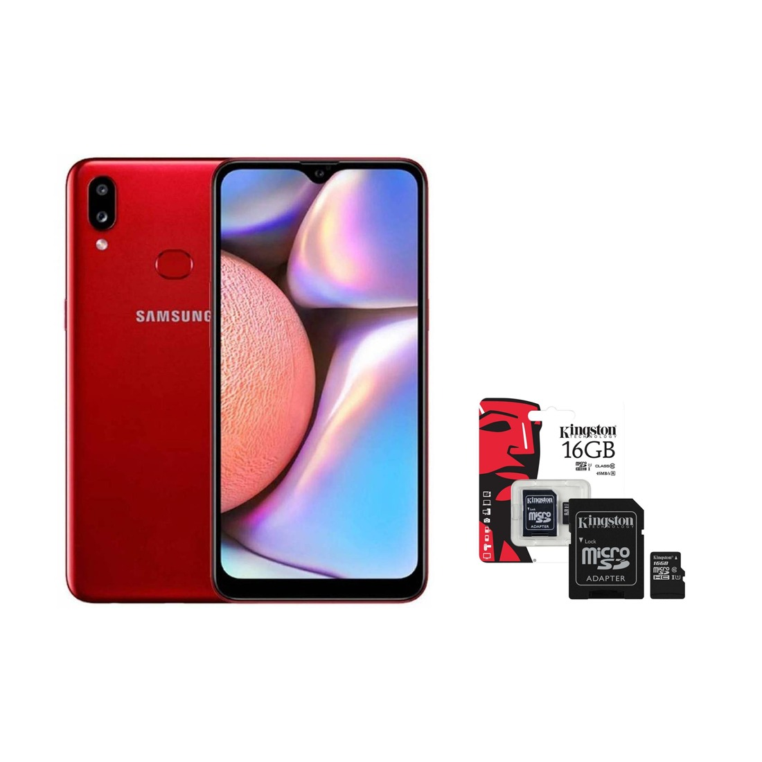 COMBO: Smartphone SAMSUNG A10s 32 GB Rojo+ Micro-SD Kingston 16GB