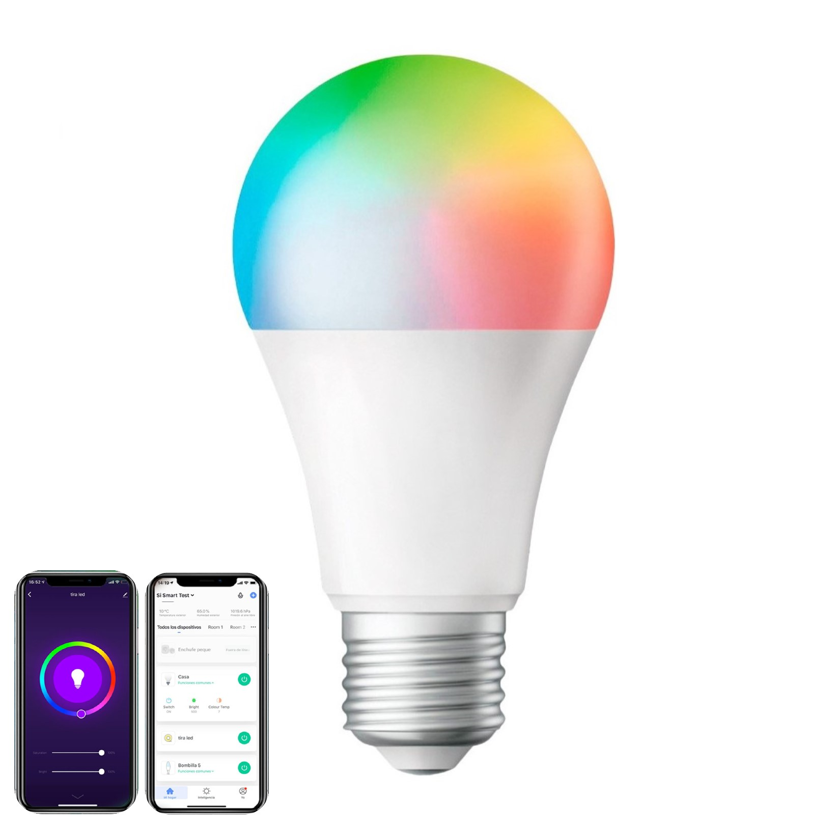 Foco Inteligente SMART WiFi LED RGB 10w Tuya Smart / Smart Life