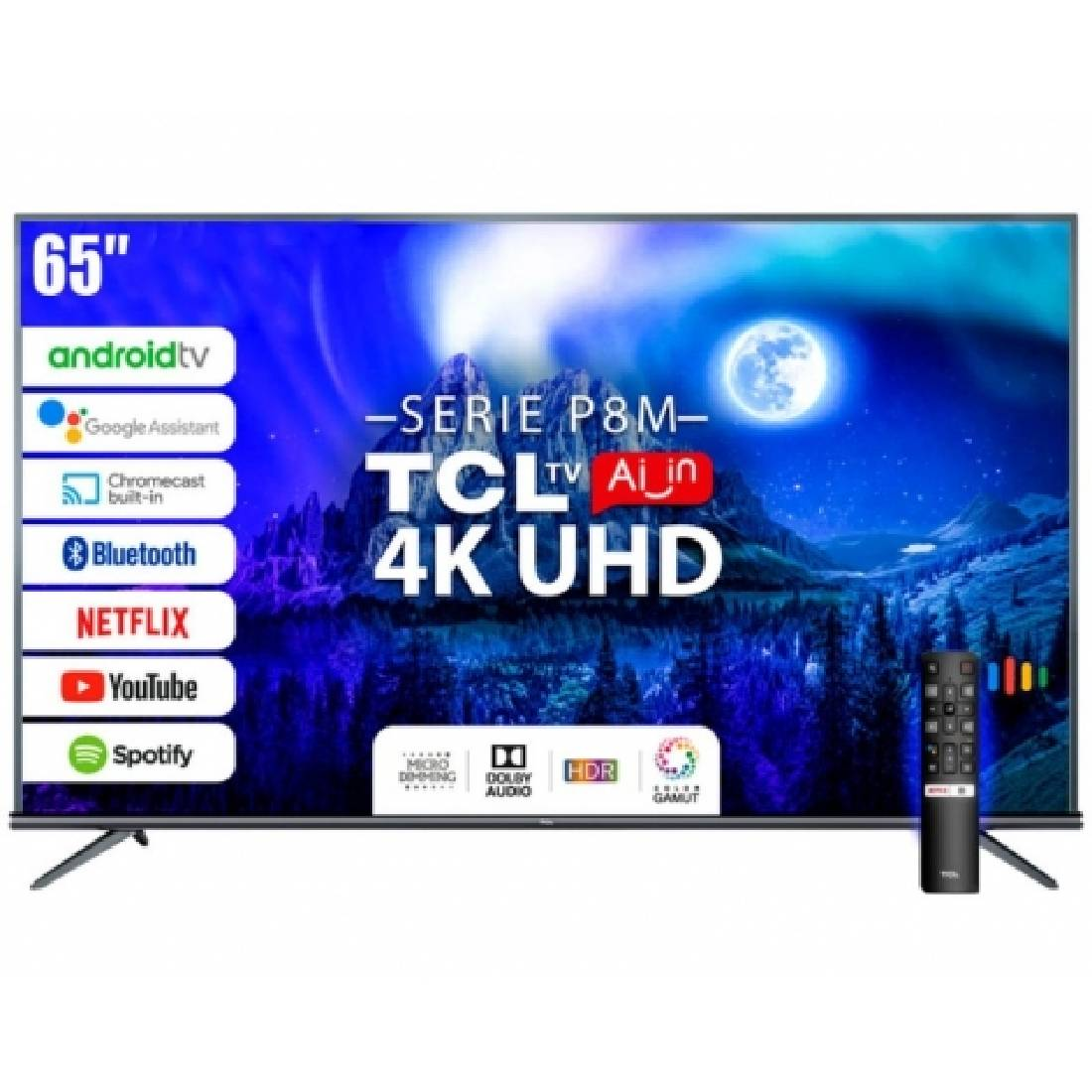"Smart TV TCL 65P8 65"" 4K HDR"