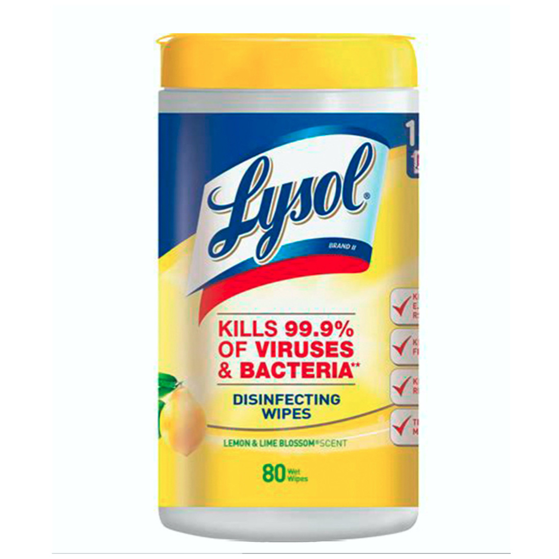 DESINFECTANTE LYSOL CO WIPESX80U LEMON&LIM