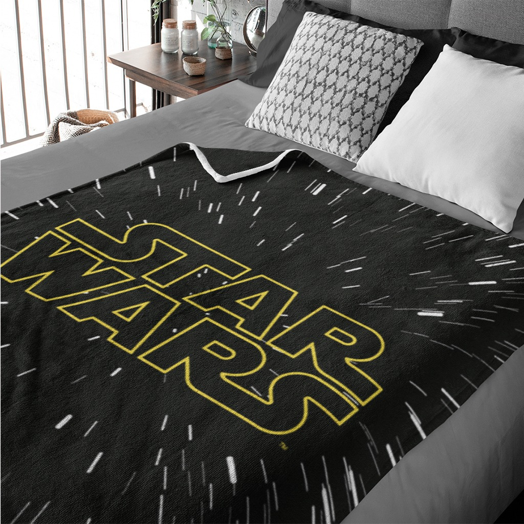 Cobija DISNEY 2 Plazas STAR WARS Yellow
