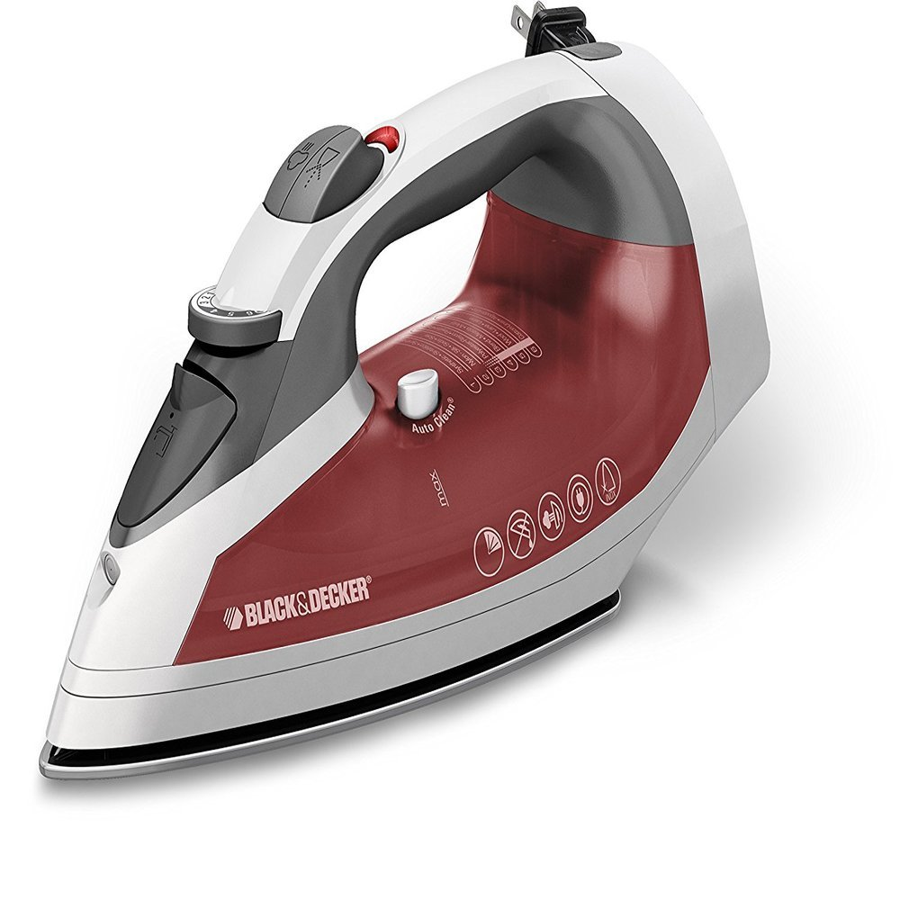 Plancha BLACK AND DECKER Vapor inteligente Blanca/roja