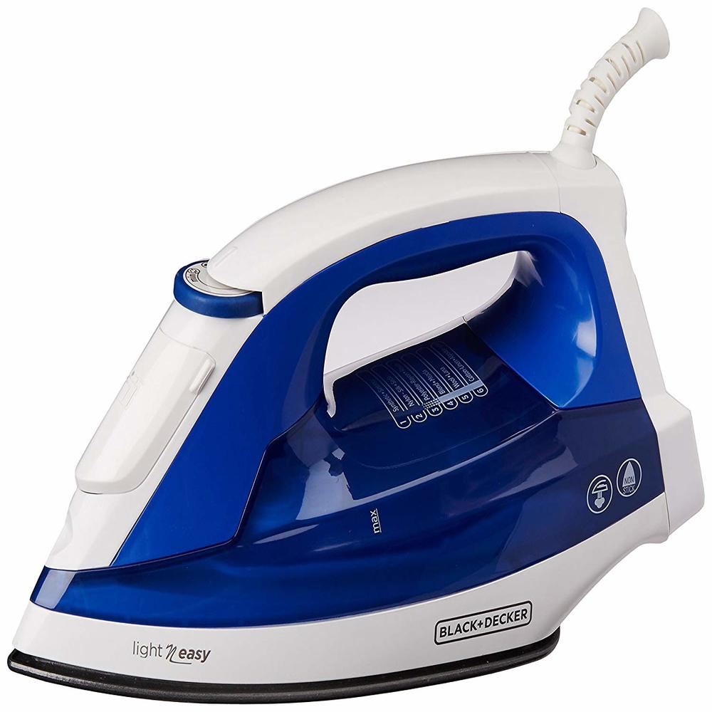 Plancha BLACK AND DECKER Vapor inteligente Blanca/azul