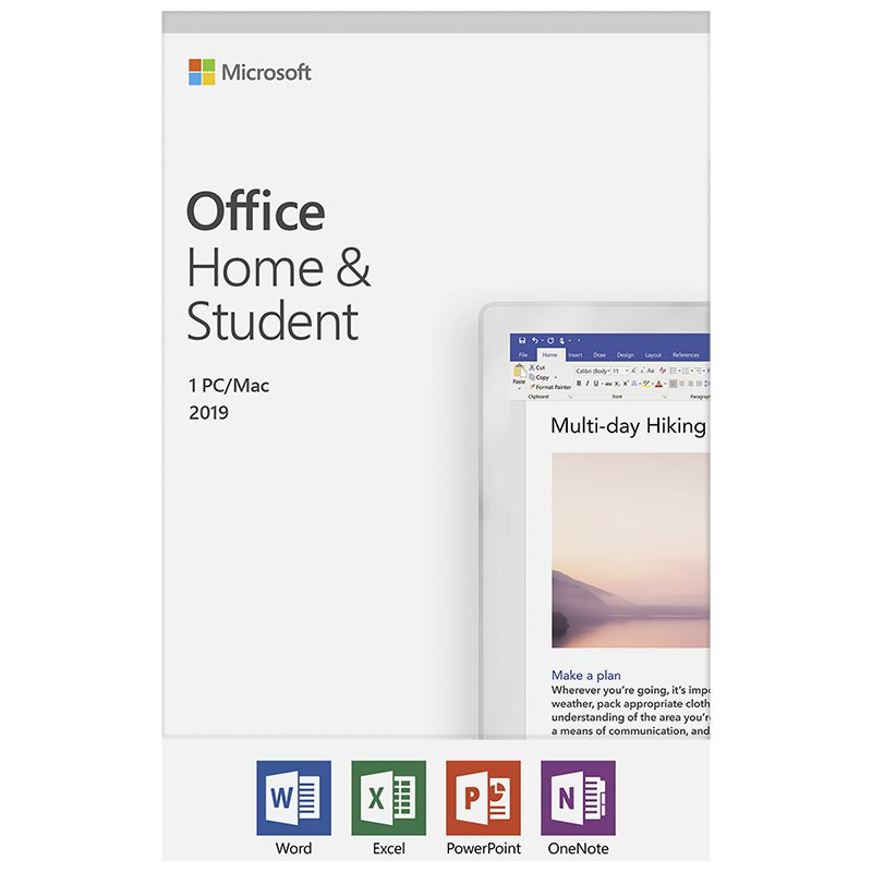 Licencia MICROSOFT Office Home and Student 2019 Descargable Windos/Mac