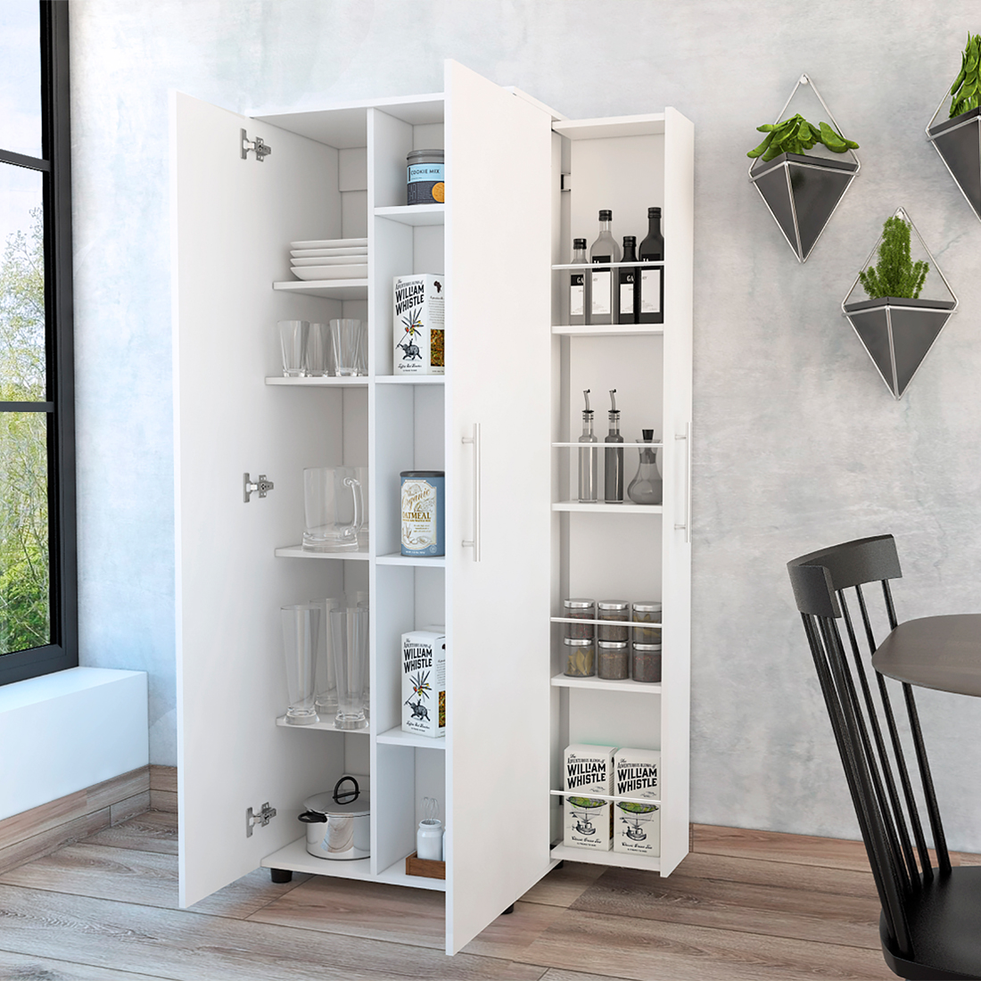 ▷ Mueble Auxiliar de Cocina SAN LORENZO Color Blanco