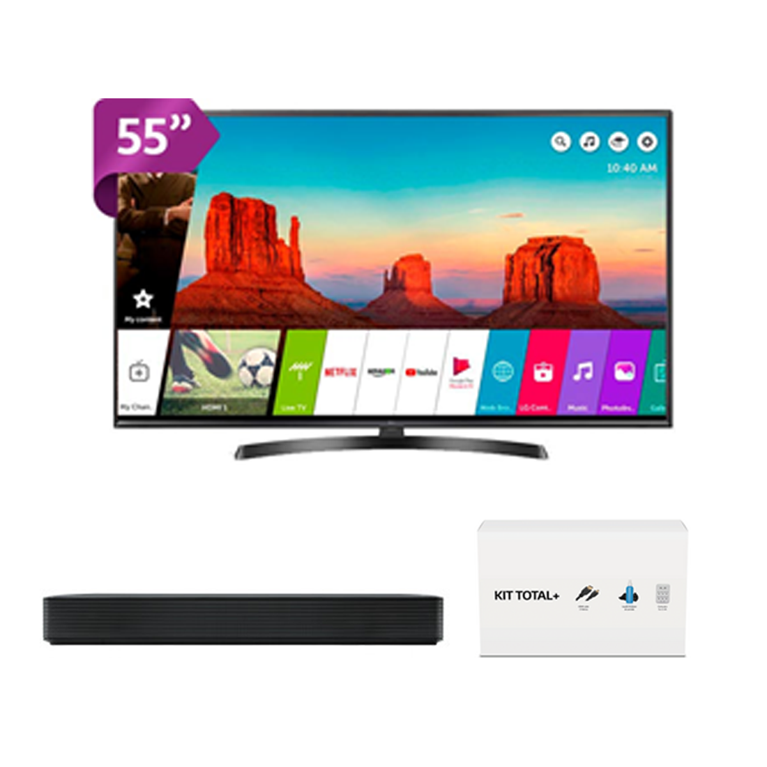 "Smart TV LG 55UM7470 55"" Ultra HD LED 4K HDR +Barra LG+ 3REGALOS"