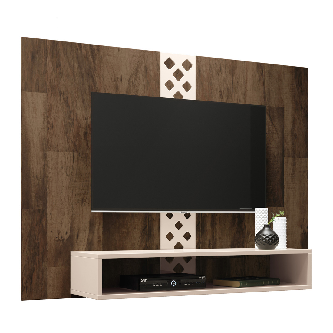 Mueble Panel FORM Color Deck-Offwhite para TV de Hasta 47 Pulgadas