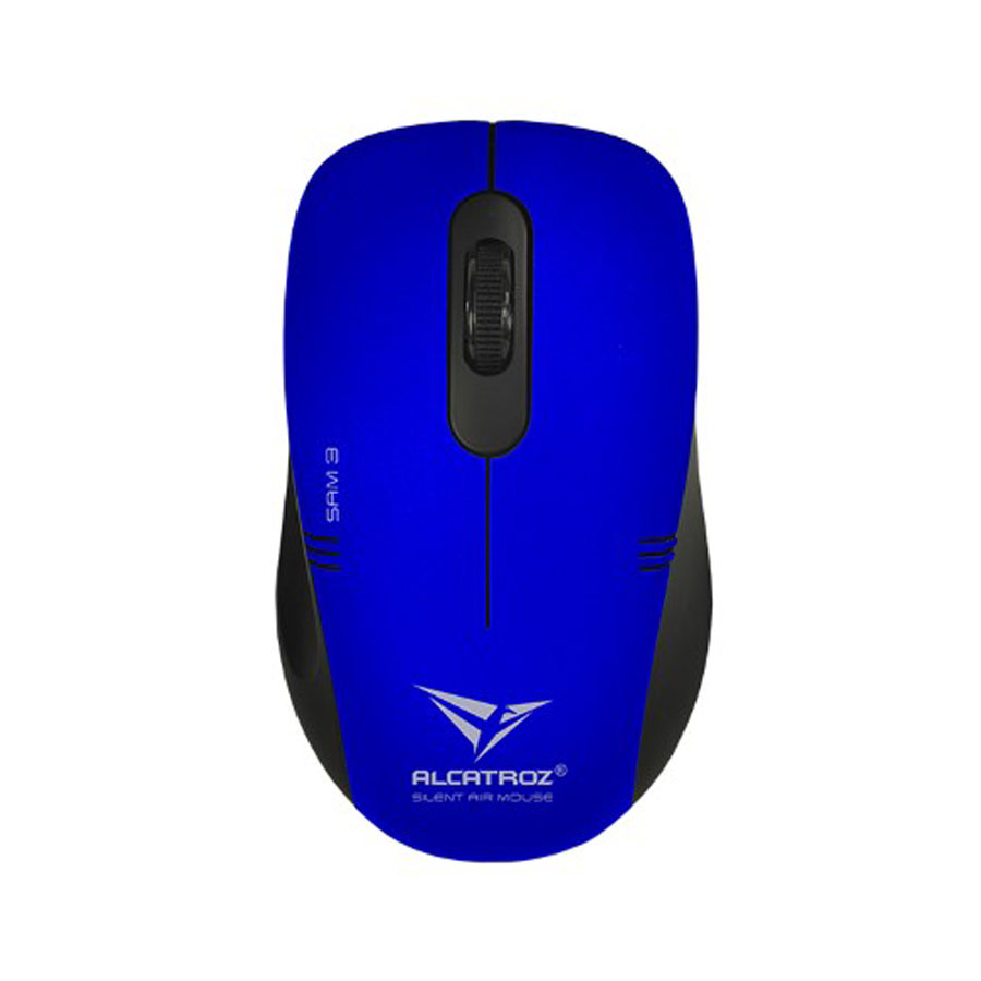 MOUSE ALCATROZ WIRELESS STEALTH AIR 3 M AZUL, 1200 DPI, Pilas incluidas